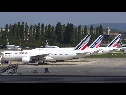 Incredible Air France fleet stuck on ground due to strike
