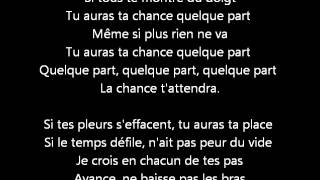 Kenza Farah - Quelque part Lyrics