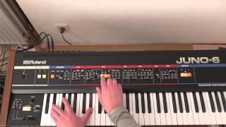Roland Juno 6 Pad/String Sound Test