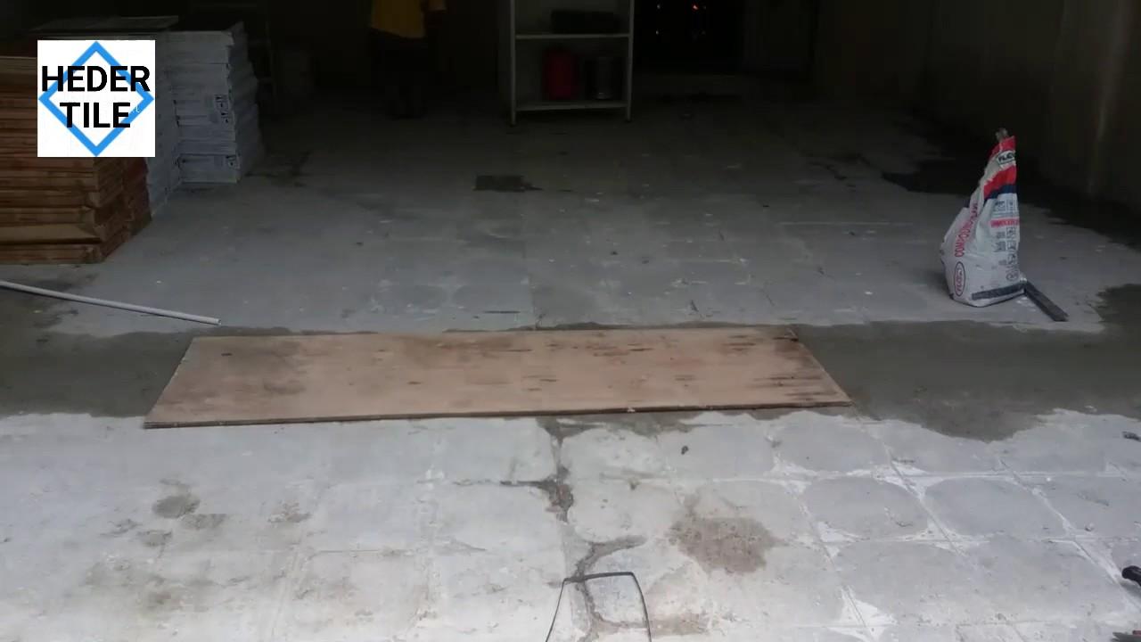 Pemasangan Tile Kat Car Porch Jubin 30 60cm Di Puchong