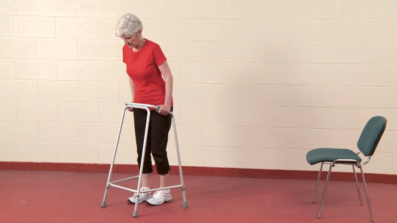 Sit To Stand And Walking With A Walking Frame Youtube