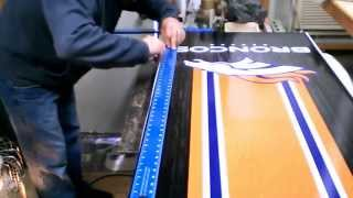 How to install a vinyl wrap on a Cornhole board by CB Design