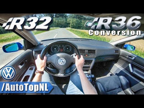VW GOLF R32   R36 SUPERCHARGED 3.6 V6   POV Test Drive by AutoTopNL