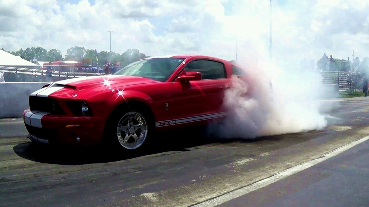 Mustang Race American Muscle Cars Drag Racing Engine Revs