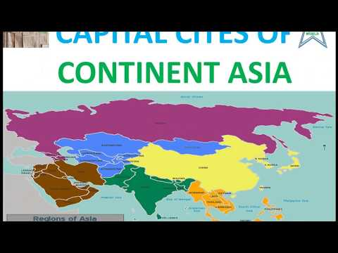 Capital Cities of Continent Asia by Know-ledge World