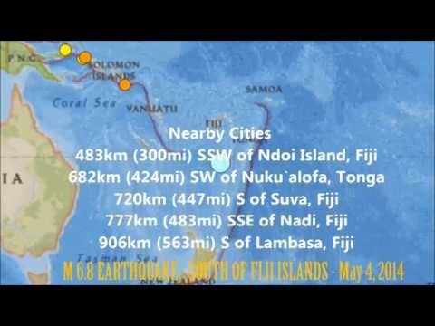 M 6.7 EARTHQUAKE - SOUTH OF FIJI ISLANDS - May 4, 2014