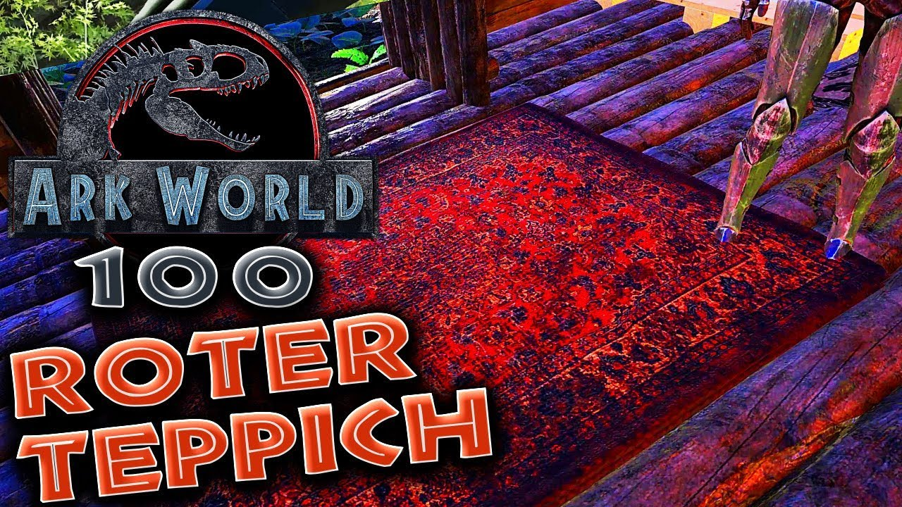 Gaming Teppich Roter Teppich Für Folge 100 Ark World Ark Deutsch German 100