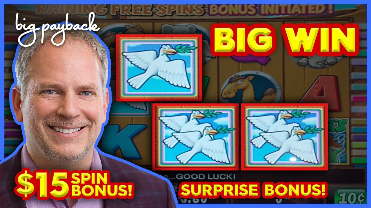 MAX BET BONUS! Noah's Ark Slot - BIG WIN SESSION!