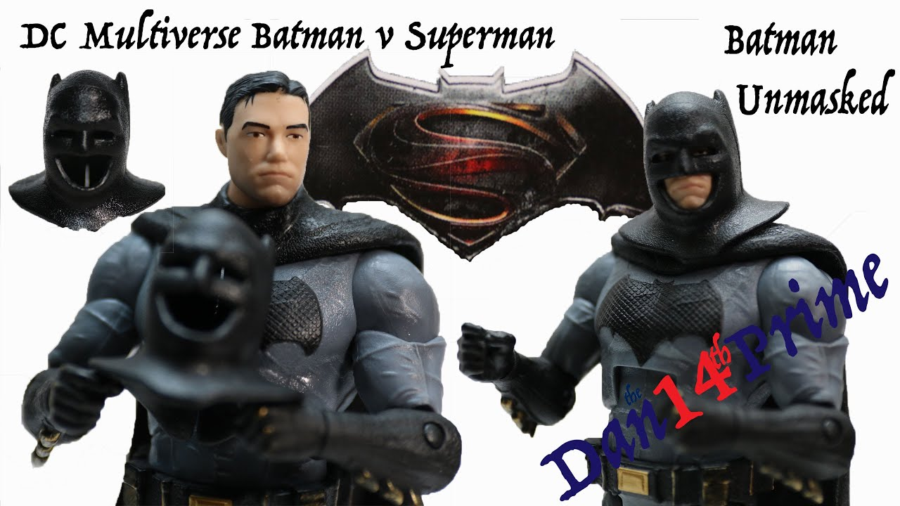 Batman Unmasked Dc Multiverse Batman V Superman 6 Action