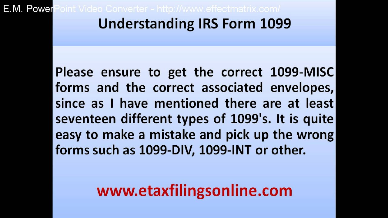 Understanding irs form 1099 youtube understanding irs form 1099 falaconquin