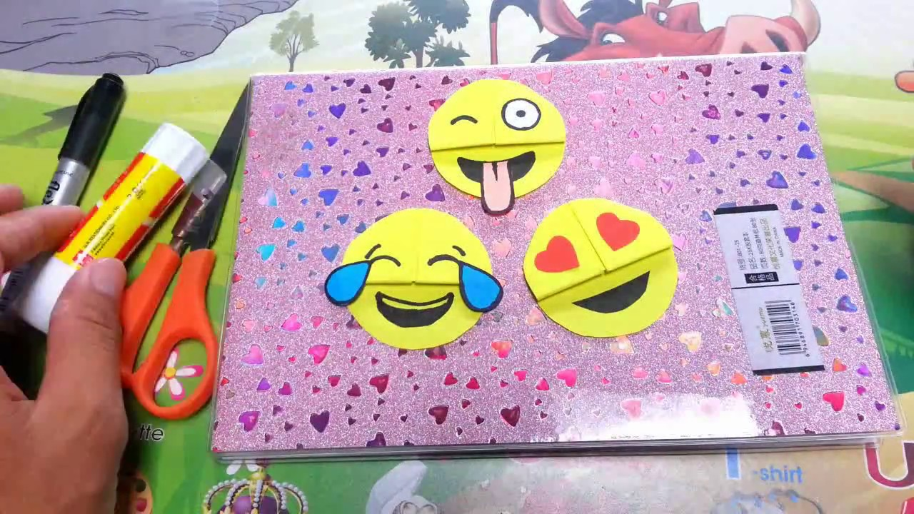 How To Make Paper Things Easy Emoji Diy Bookmark Corners Paper