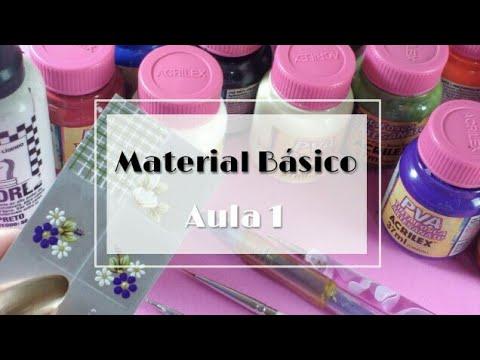 Curso adesivos artesanais -  Aula 1 material básico