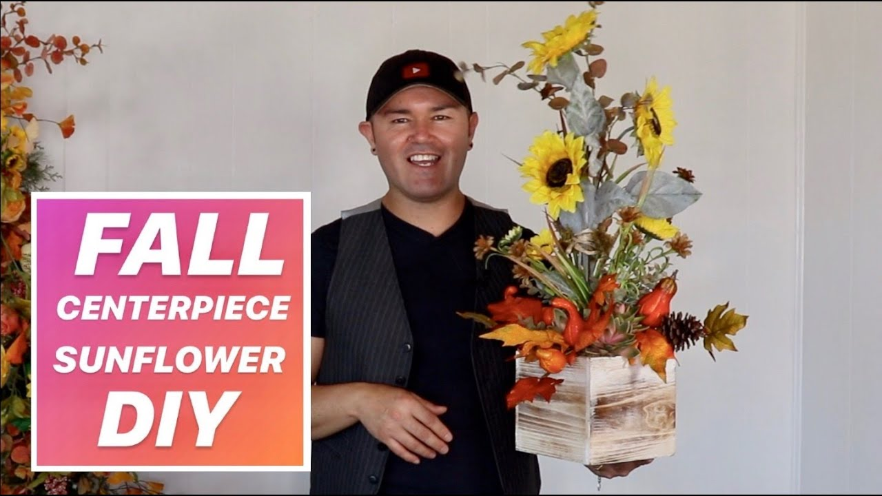 HOW TO MAKE A SUNFLOWER CENTERPIECE ON A BUDGET