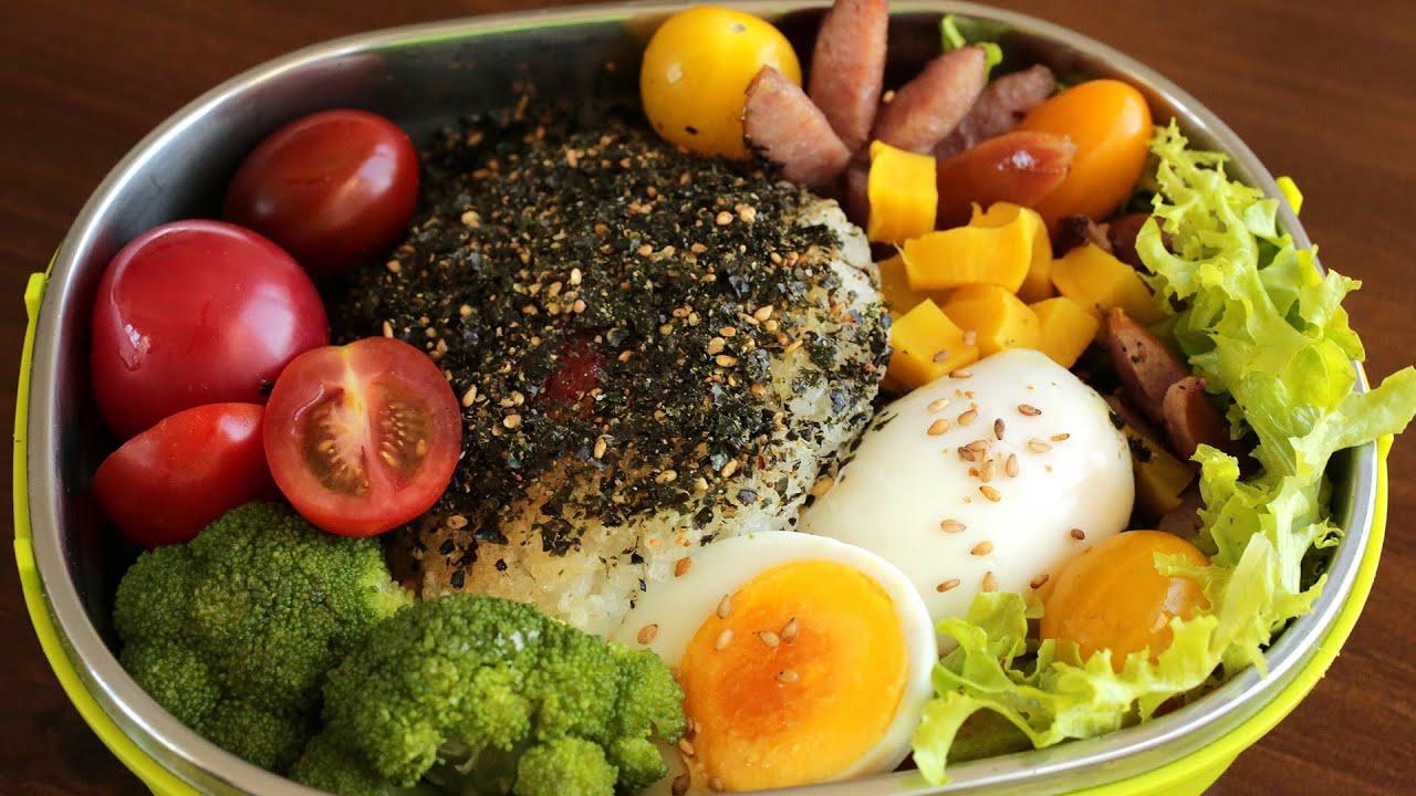Rice ball lunch box (Jumeokbap: 주먹밥) - YouTube