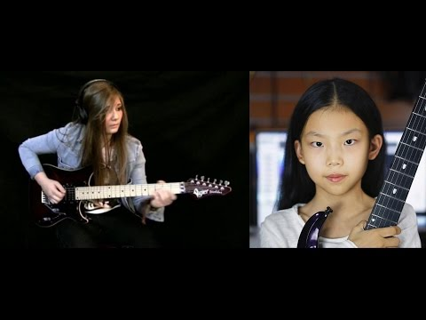 Ultimate Female Guitarist  SHRED OFF Tina S France  vs  Yoyo China 2 Amazing Girls!