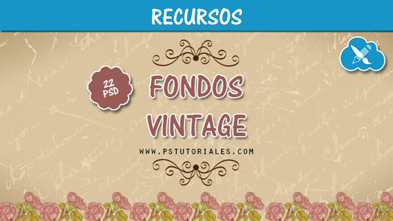 22 PSD de Fondos Vintage || GRATIS ♥ - YouTube