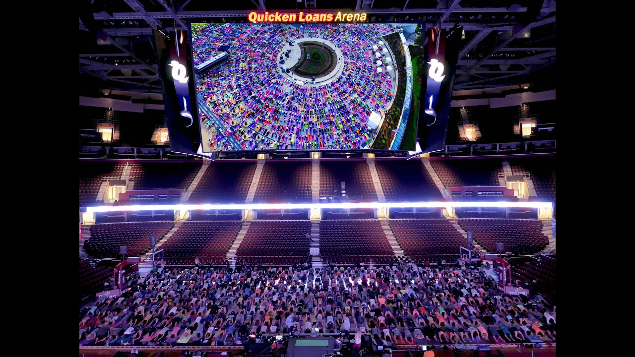 Believe in CLE Yoga Event at Quicken Loans Arena