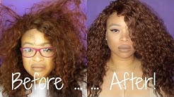 HOW TO: REVIVE  REFRESH A CURLY SYNTHETIC WIG! | THE HEATHERS.