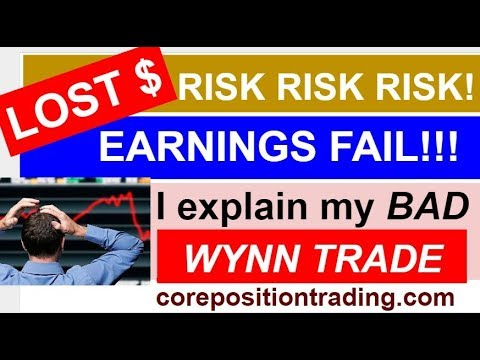 WRITING COVERED CALLS - EARNINGS REPORT RISKS!!! My Losing Trade example