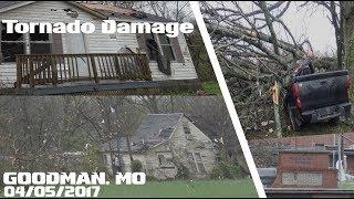 Tornado Damage Of Homes Cars Business - Goodman, MO - 04-05-2017