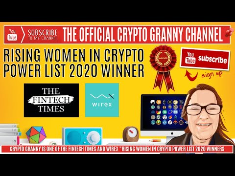 Crypto Granny WINS - Wirex Rising Women In Crypto - Power List 2020. XRP FLARE RIPPLE WIREX.