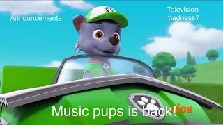 (Music pups, television madness,and more) announcements