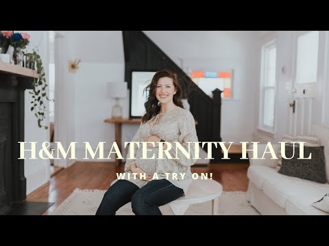 H&M HAUL  Maternity Clothing  TRY ON  what I bought and how it fits