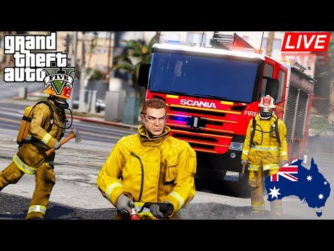GTA 5 - Emergency 000 - Metropolitan Fire Brigade patrol in