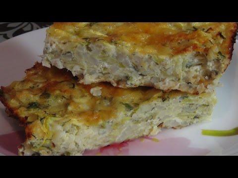 Как приготовить вкусную запеканку из кабачка с рисом и сыром