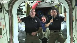 BBC News 22 March 2014 Spacemen send congratulations to Gravity