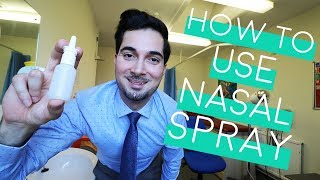How To Use Nasal Spray | How To Use Nasal Spray Properly | Nasal Spray Technique (2018)