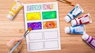 Pinta como un PRO  8 Técnicas Fáciles de Acuarela