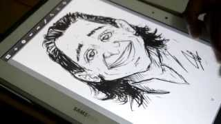 Loki Drawing (fast rough) with Galaxy Note 10.1