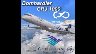 🔴 INFINITE FLIGHT GLOBAL CRJ-1000 GARUDA INDONESIA 🔥SKYTEAM🔥
