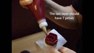how to make roses from buttercream