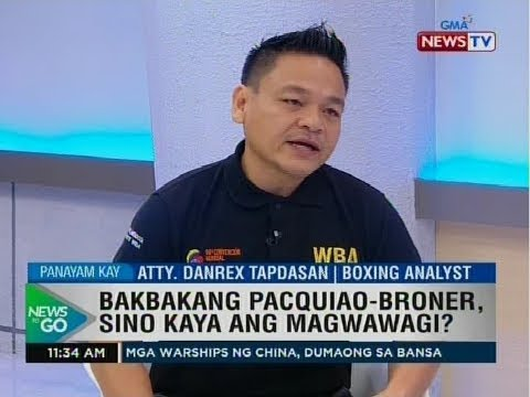 Danrex Tapdasan talks about Pacquiao - Broner bout