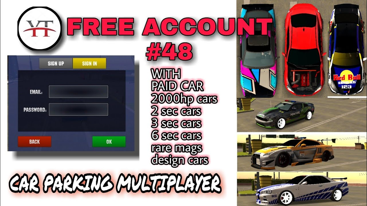 Free Account 48 Car Parking Multiplayer Your Tv Giveaway Youtube