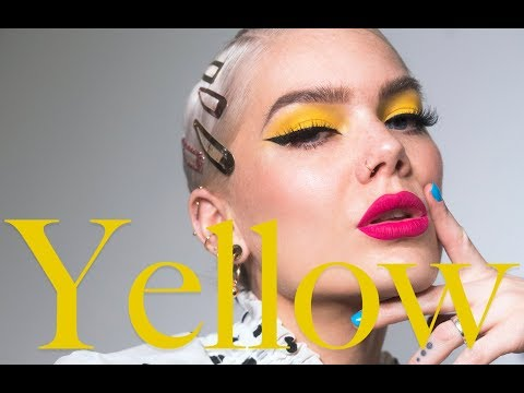 How To Conquer Patchy Yellow Eyeshadows + Yellow Tutorial | Linda Hallberg Tutorials thumbnail