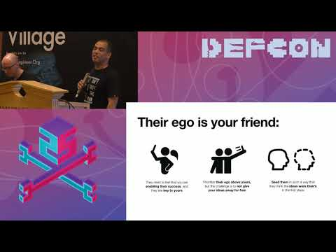 DEF CON 25 SE Village - Keith Conway, Cameron Craig - Change Agents  How to Affect  Corp. Culture