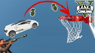 BASKETBALL VS SNIPERS (+DOWNLOAD) | GTA 5 - CUSTOM MAP RENNEN