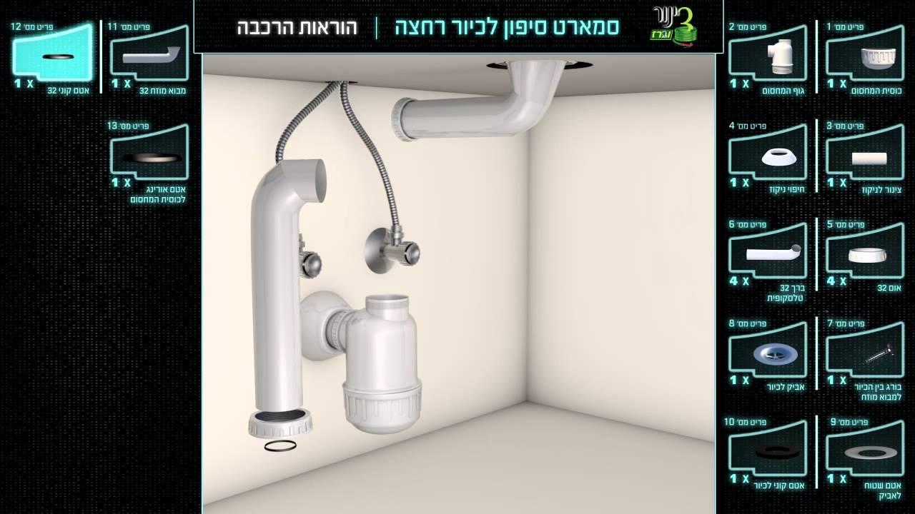 מתקדם סמארט סיפון לכיור אמבטיה - YouTube LH-94