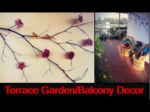 DIY Terrace/Balcony Decoration /Terrace Garden Makeover in 10 minutes