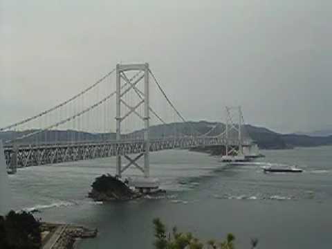 The naruto bridge in japan(Tokushima Prefecture)