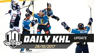 Daily KHL Update - October 28th, 2017 (English)