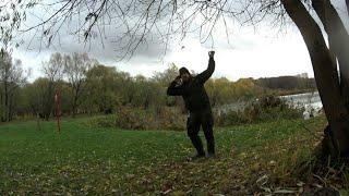 Боковой кивок попытка поймать карпа в ноябре
