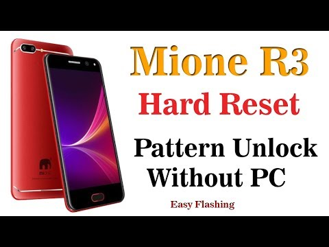 Mione R3 Hard Reset | Pattern Lock Remove - YouTube