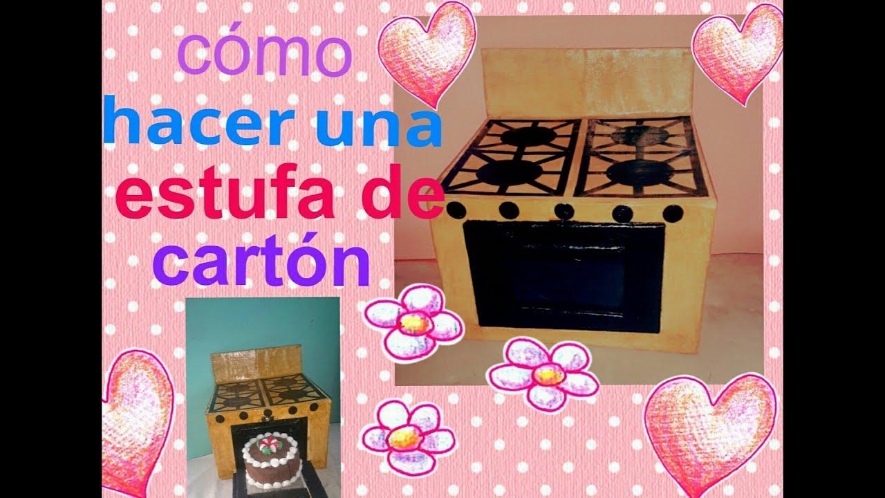 Como hacer una estufa de cart n cardboard kitchen youtube for Como armar mi cocina