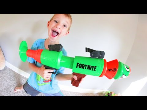 Father & Son Get A NERF ROCKET LAUNCHER!?! / Fortnite Edition!
