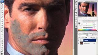 Уроки Adobe Photoshop CS3 - урок 17 - Добавление небритости