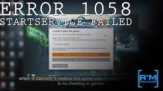 Fixing Paladins StartService Failed Error 1058